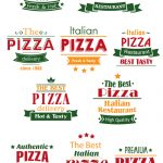 Traditional Pizza Food Logos Free Vector