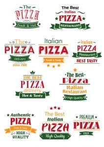 pizza logo free vector