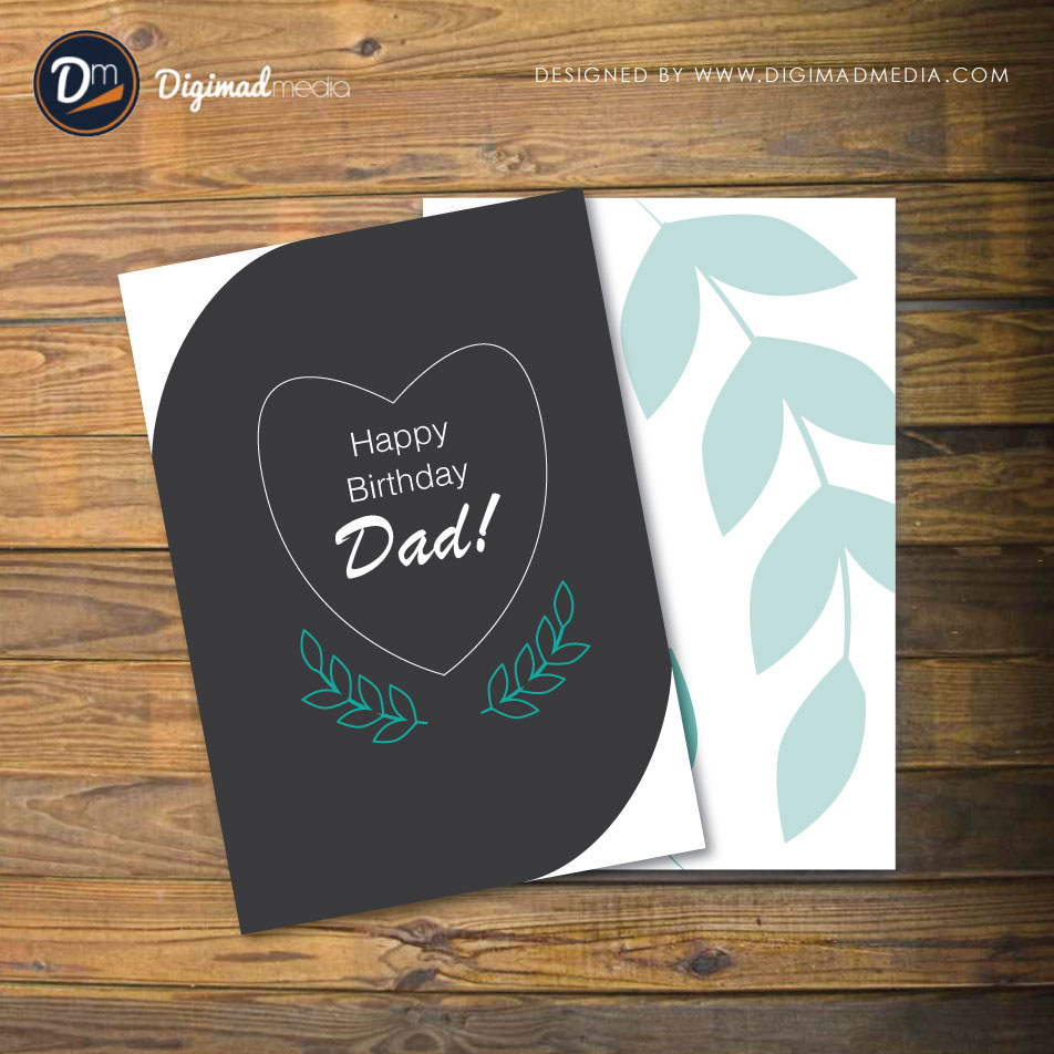 Birthday Card Free Vector for Father/Dad