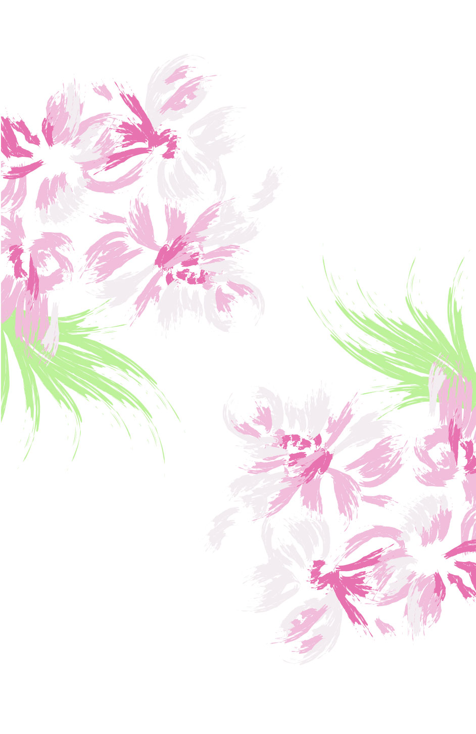 Hand Painted Flower Background Vector