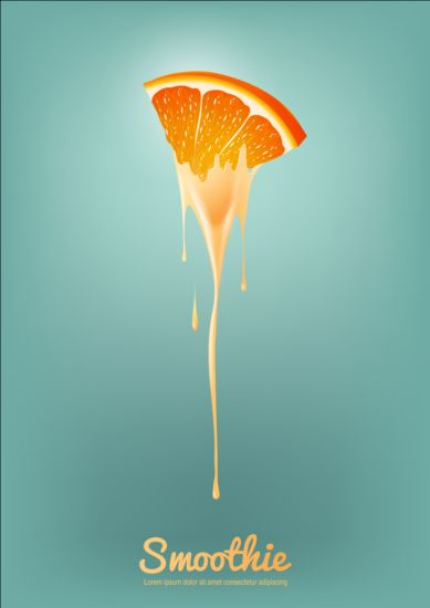 Orange Smoothie Juice Vector Background