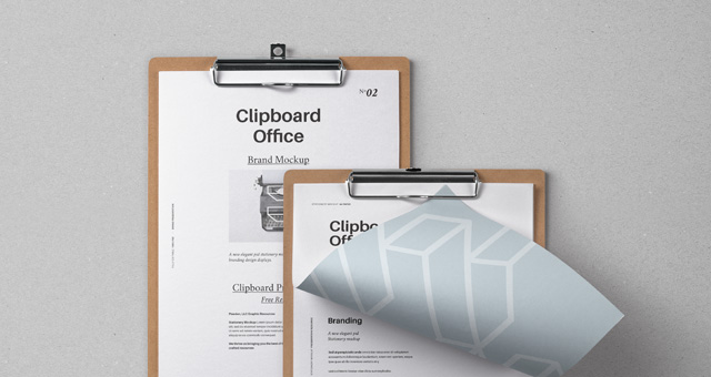 Clipboard Notepad PSD Mockup