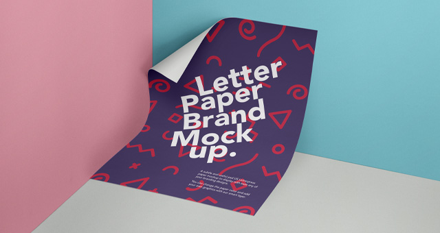 Free PSD Paper Poster Mockup