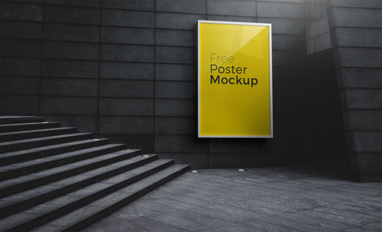5 Free PSD Poster And Billboard Mockups