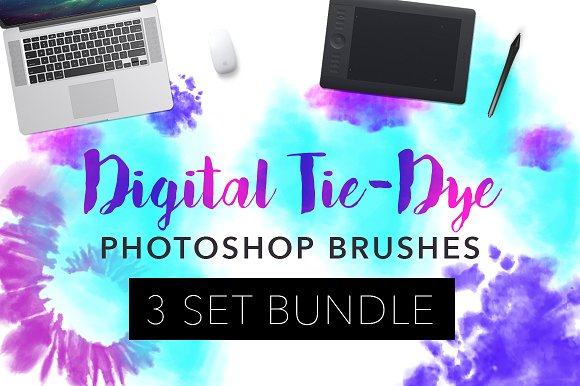 Digital Tie-Dye Photoshop Brush Set