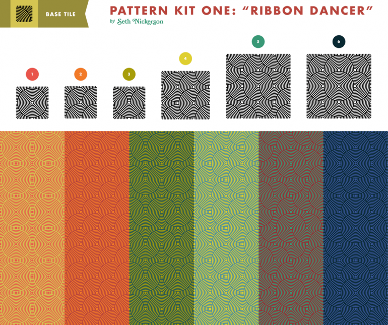 Retro Lines Pattern Kit
