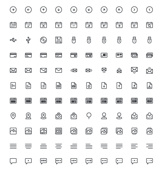 UIcons – Free Line Icons
