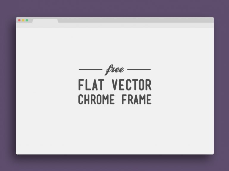 Flat Chrome Window