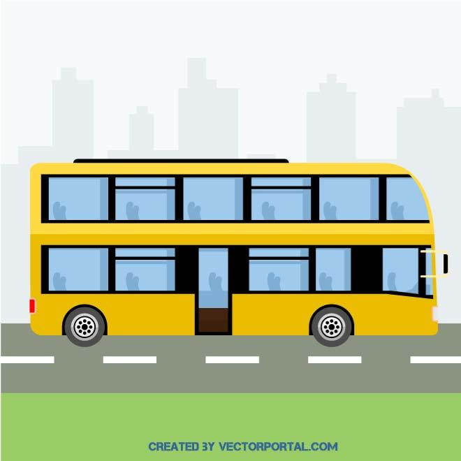 Vector Double Decker Bus Illustration
