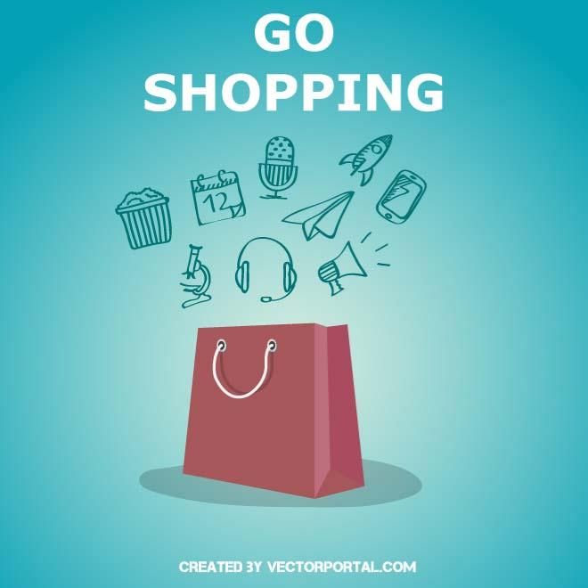 Shopping Bag Illustration and Icons