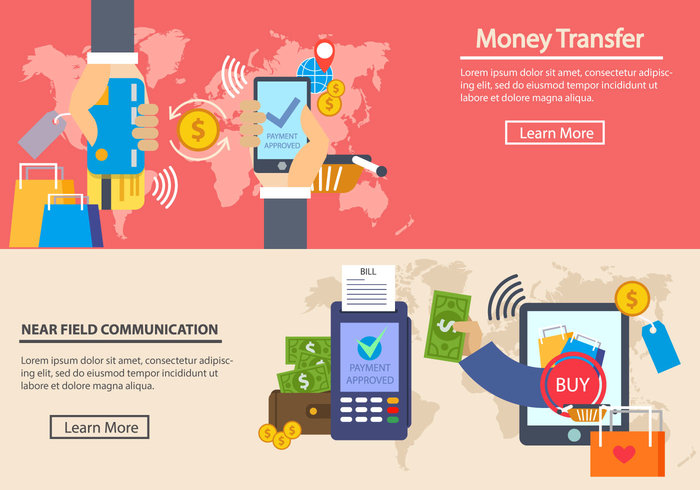 Contactless Payment Vector Illustration