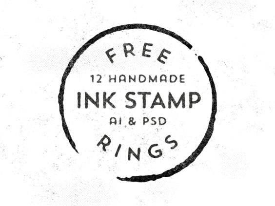 12 Free Vector Handmade Stamp Rings