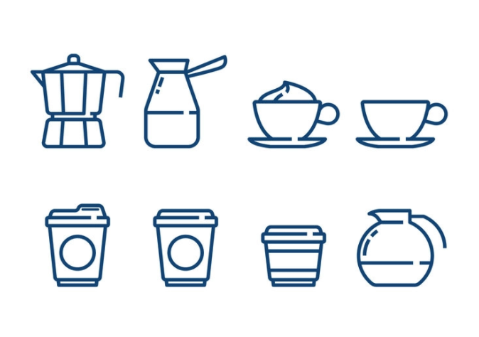 Minimalist Coffee Vector Icons