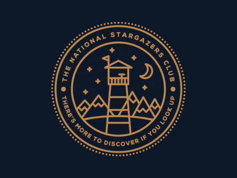 free circular logo template the national stargazers club vectorverse