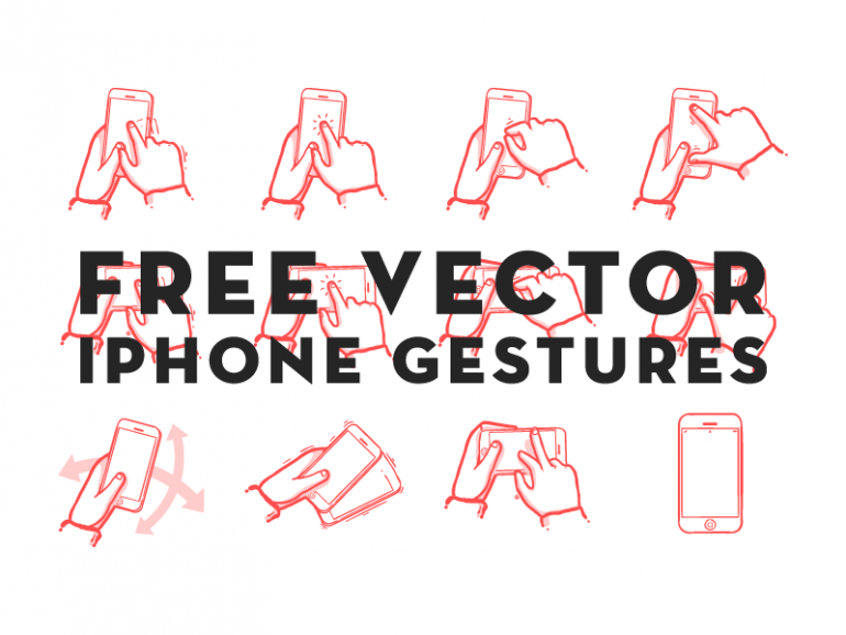 Smartphone Hand Gesture Icons