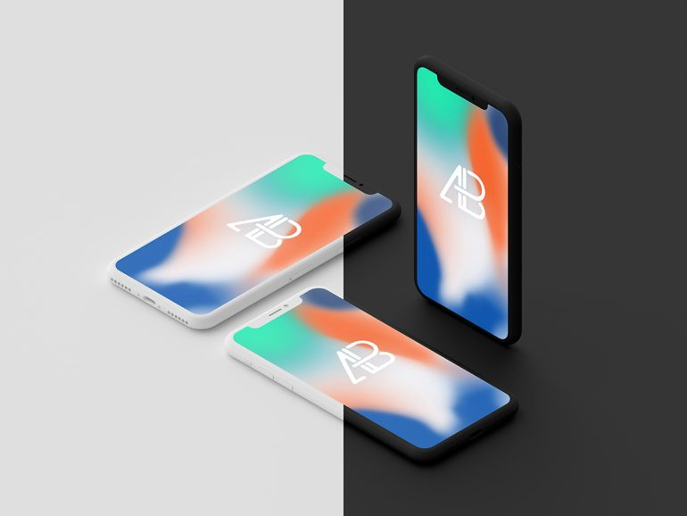 Clay iPhone X Mockups