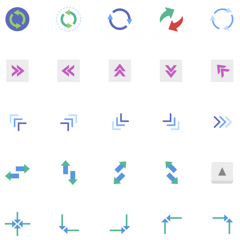 185 Free Arrows Icons