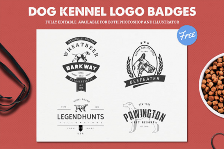 4 Free Dog Kennel Logo Templates