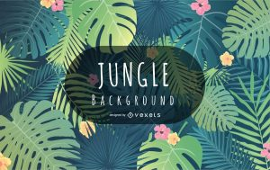 free vector jungle background