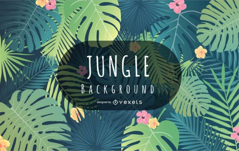 Tropical Jungle Background Vector